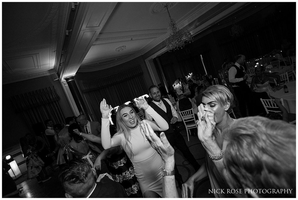 Dancefloor wedding fun at the Rudding Park Hotel in Yorkshire