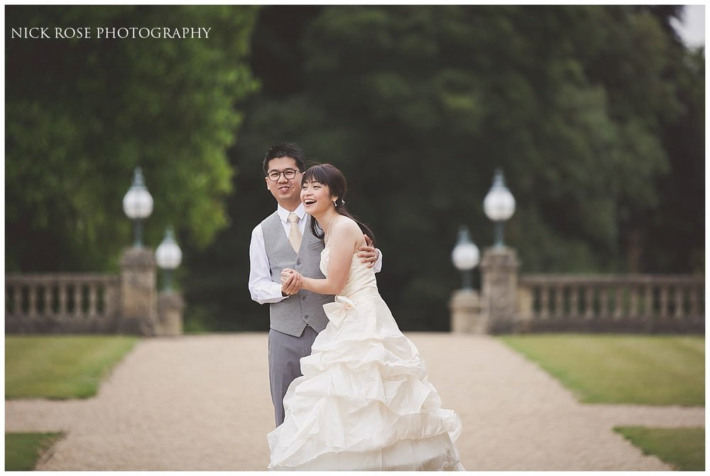 pre wedding photography at Heythrop Park Hotel Bibury