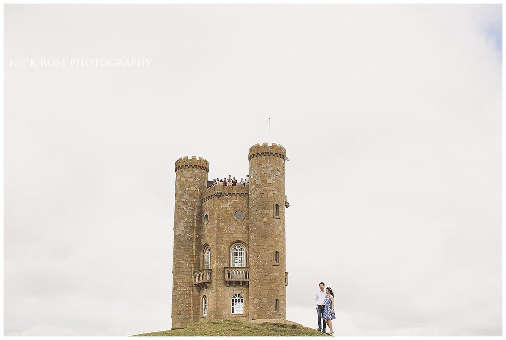 Broadway Tower pre wedding photography session in WR12 7LB