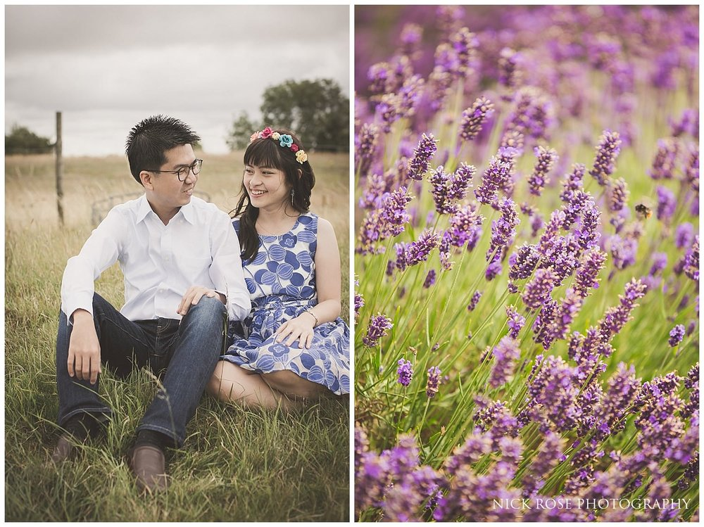 Snowshill Lavender Farm pre wedding photography in the Cotswolds