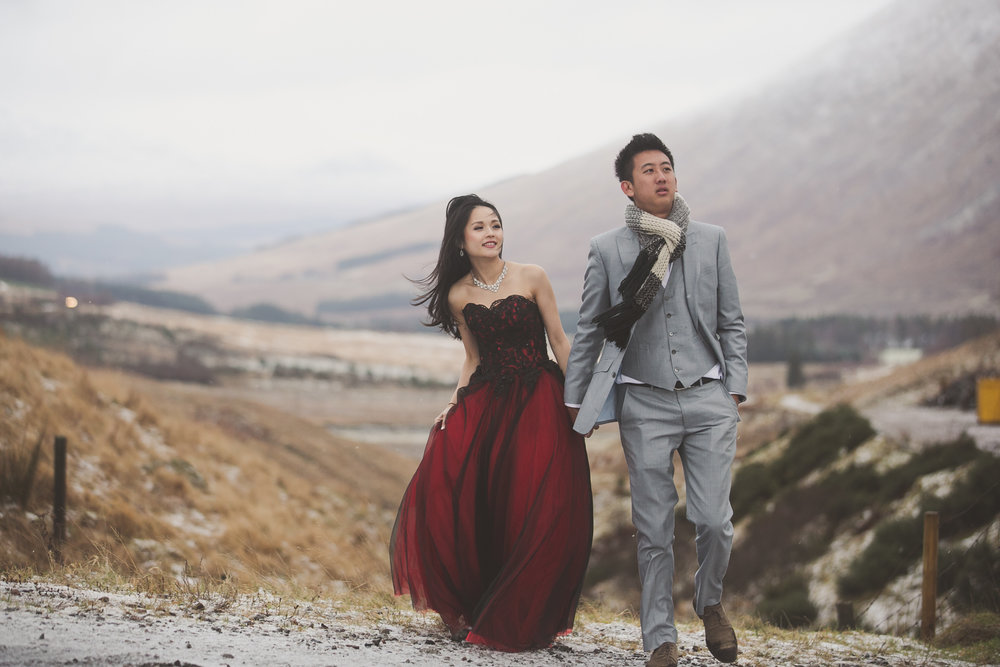 Winter pre wedding photography shoot in Scotland