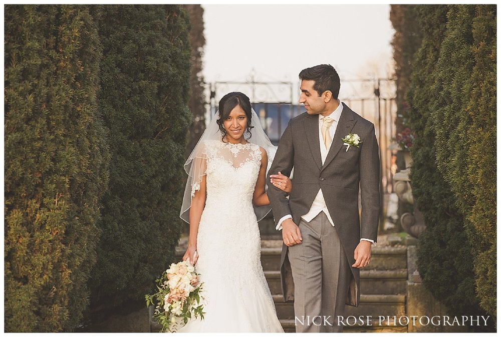 Bride and Groom couple portrait at Hedsor House in Buckinghamshire