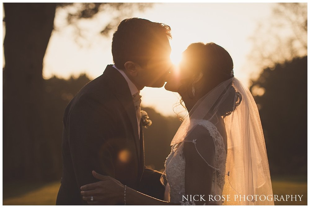 Sunset wedding photograph at Hedsor House