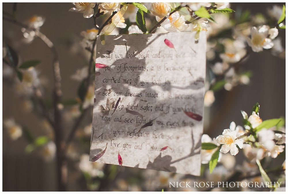Fairytale message tree for a Hedsor House wedding in Buckinghamshire