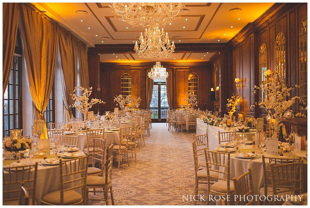 Hedsor House wedding reception layout for a fairytale wedding in Buckinghamshire