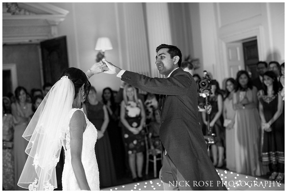 Bride and groom first dance at Hedsor in Bucks