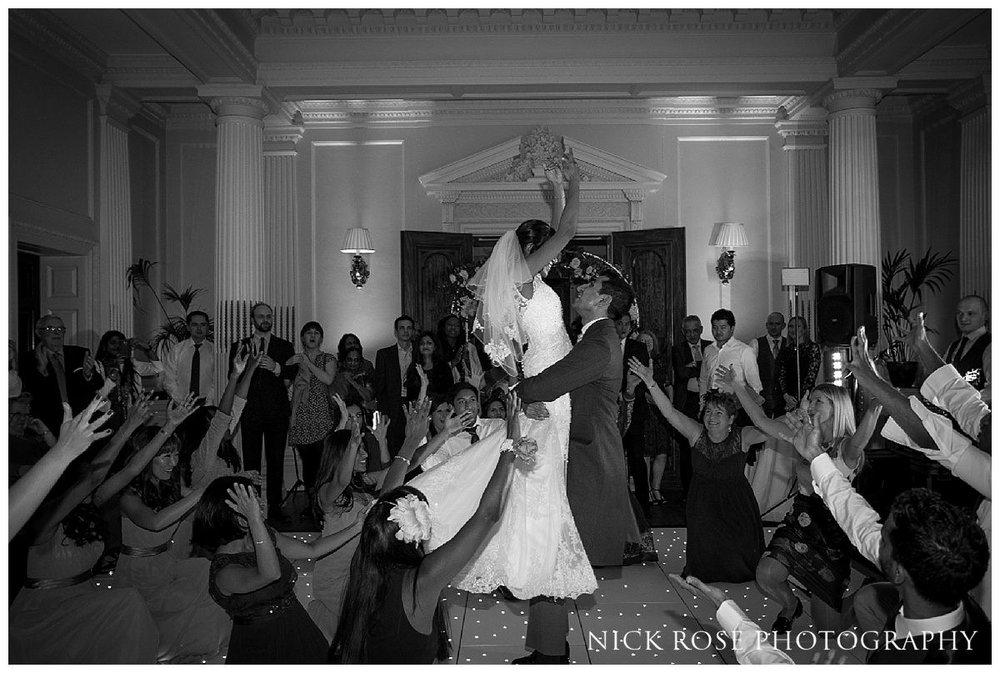 Epic first wedding dance during a winter wedding at Hedor House in Taplow Buckinghamshire