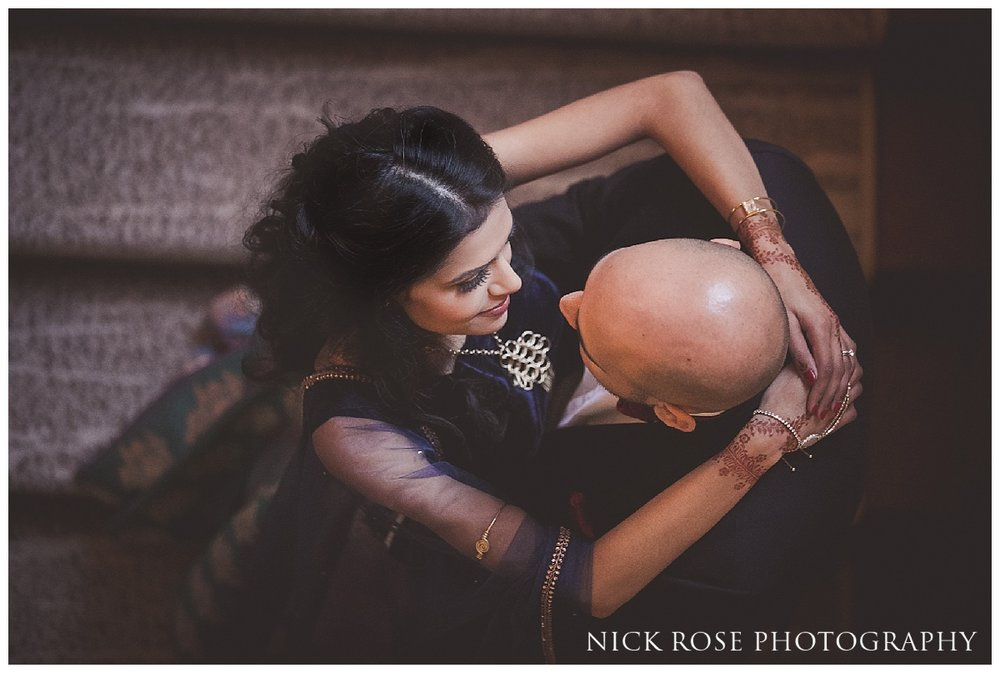 Indian wedding photography portrait at The Grove in Watford