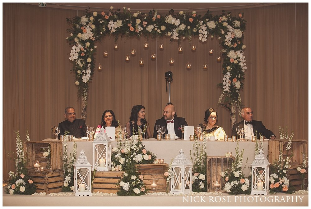 Hindu wedding speeches at The Grove in Chandler's Cross in Watford