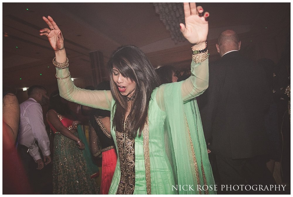 The Grove in Watford Hindu wedding reception party and dancing in Hertfordshire