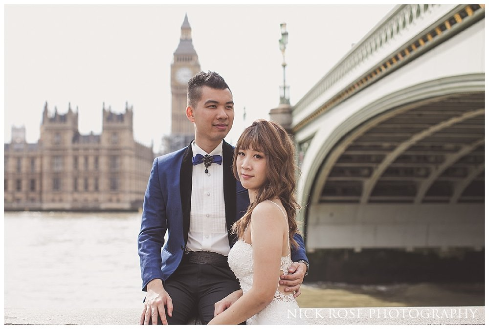 Big Ben pre wedding photography in Westminster London