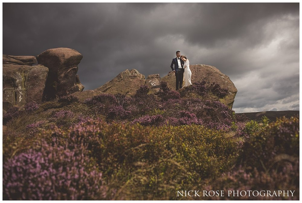 Peak District Pre Wedding Photography at Ramshaw Rocks