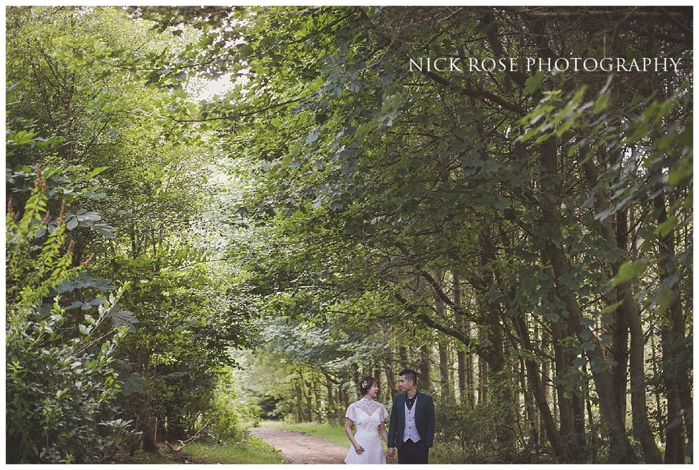Pre wedding photography in Gradbach near the River Dane in the Peak District