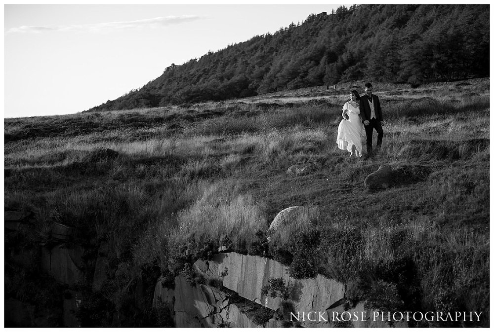 Pre wedding engagement photography shoot in the Peak District