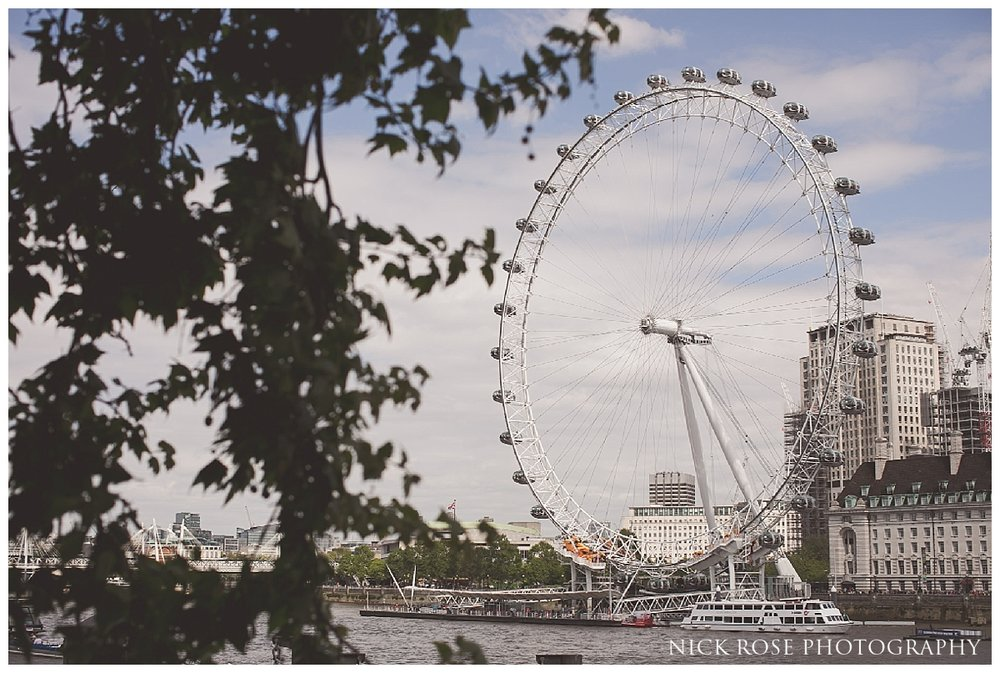London Eye pre wedding photography