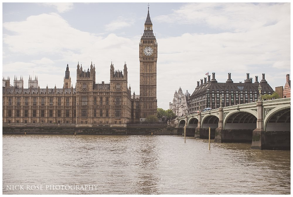 Big Ben and the Houses or Parliament pre wedding photography