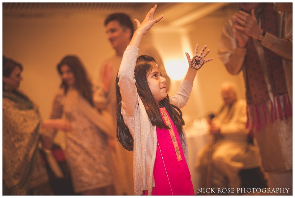 Pakistani Bhangra dancing at the Park Lane Sheraton Grand in London