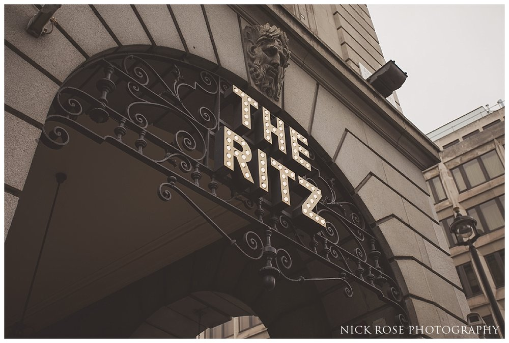 Ritz Hotel London wedding photography