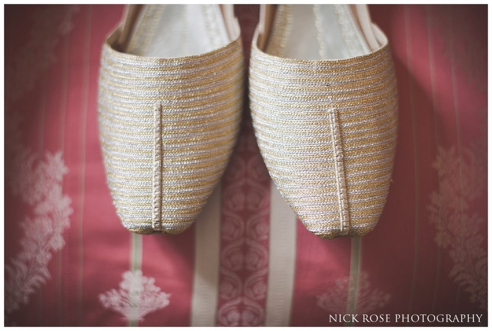 Groom wedding shoes for a Pakistani Wedding at the Ritz Hotel London