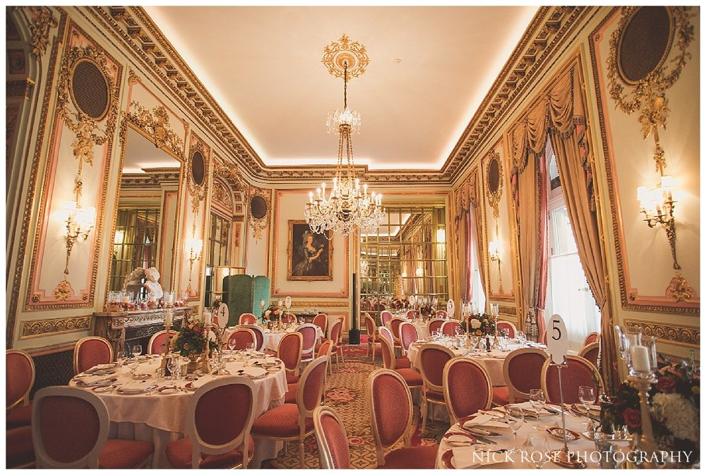 Asian wedding event in the Marie Antoinette Suite in the Ritz London