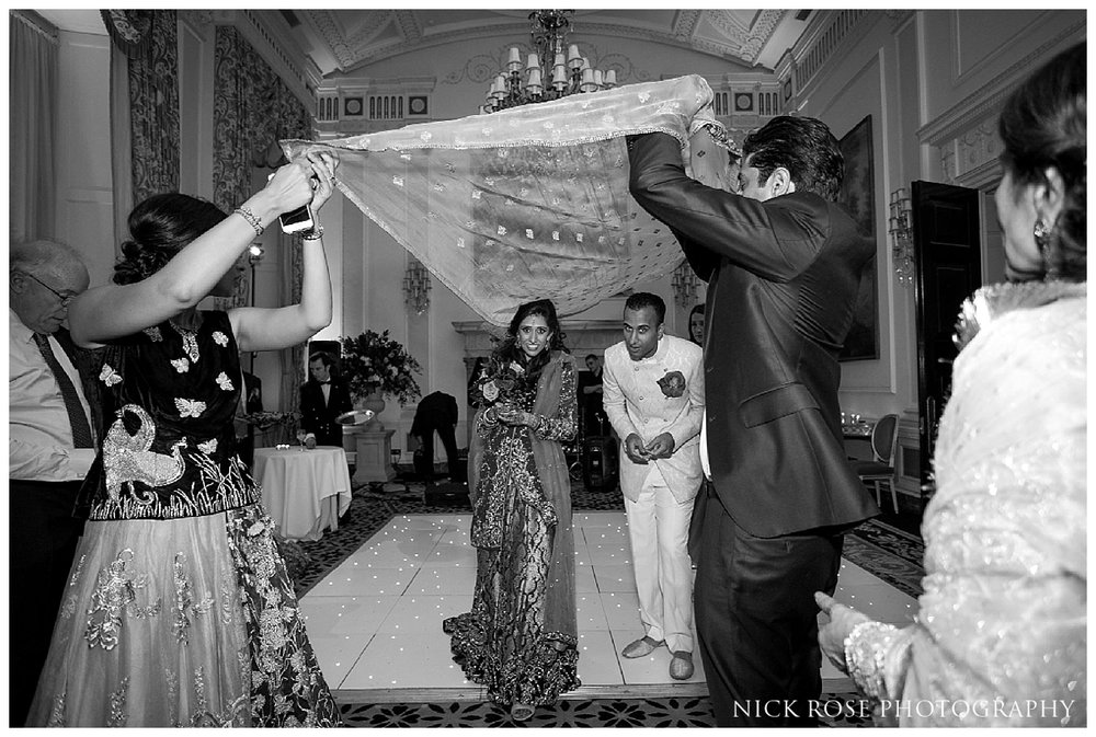 Pakistani wedding exit at the Ritz in London
