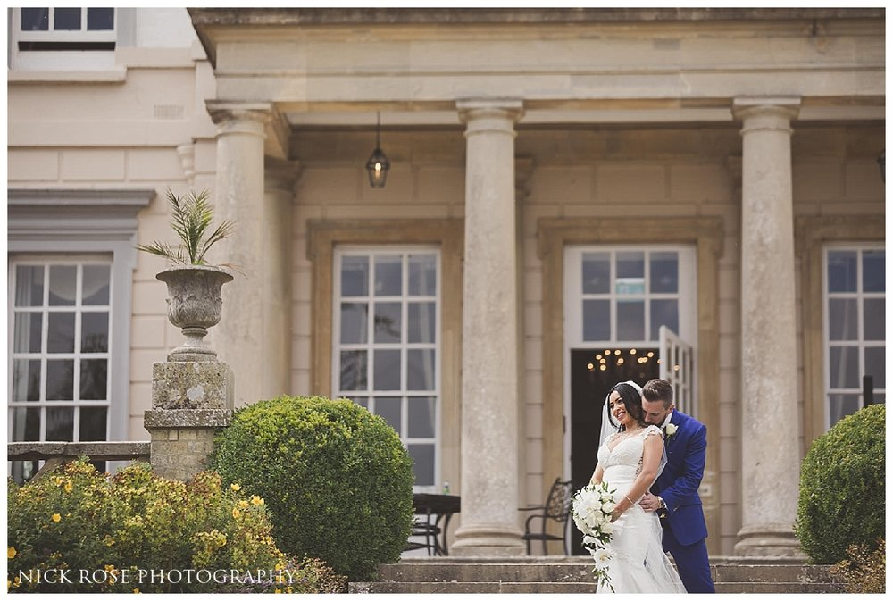 Bride and groom wedding photography portraits at Buxted Park