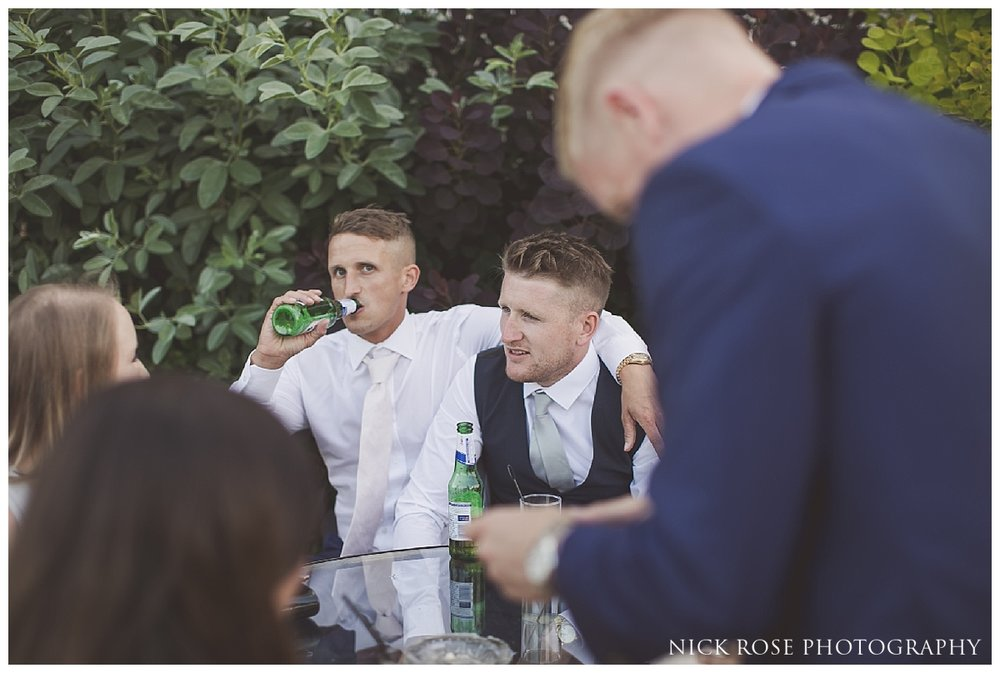Wedding speeches during a Buxted Park Wedding