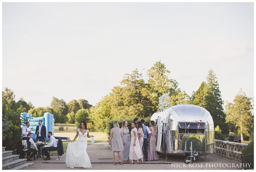 Silver camper van wedding photo booth
