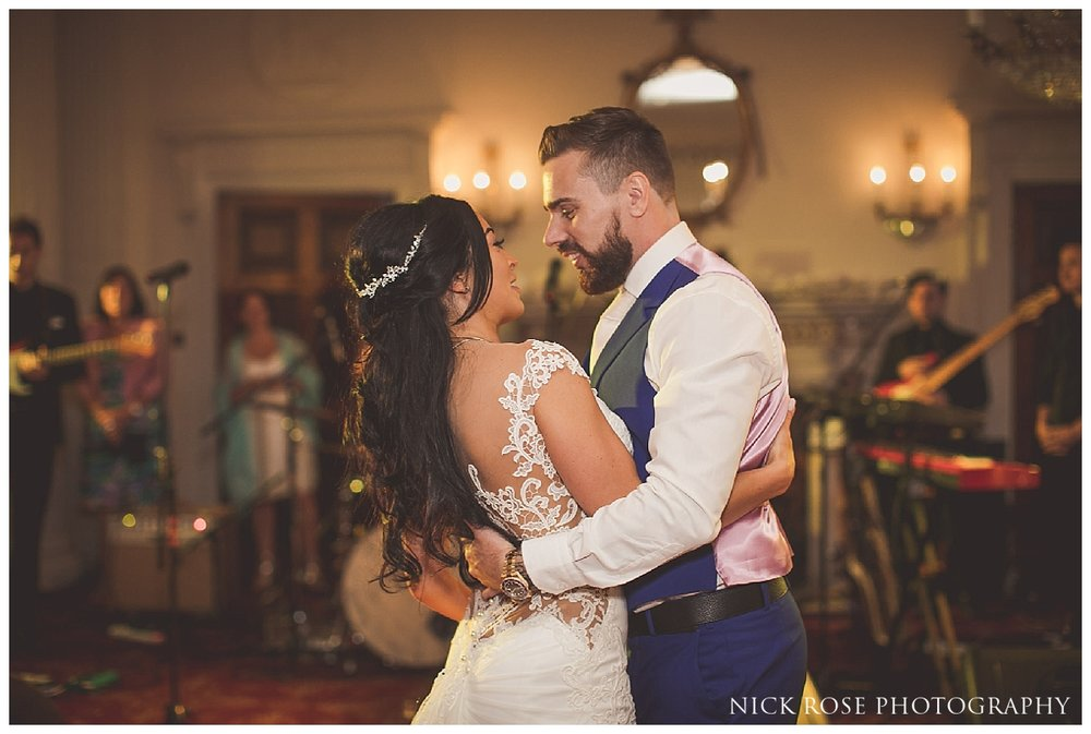 Bride and groom first dance at a Buxted Park wedding
