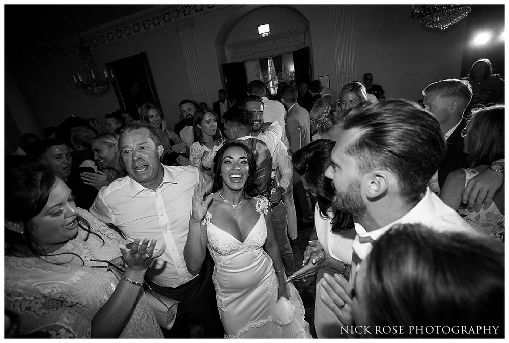Wedding reception dancing at Buxted Park in East Sussex