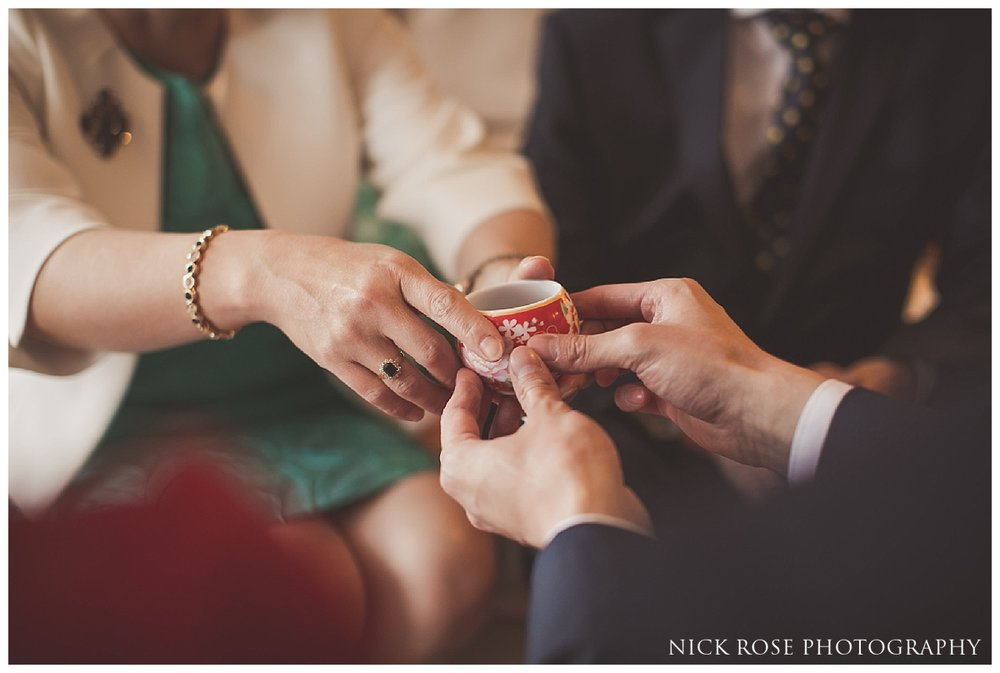 Hong Kong tea ceremonies before a wedding in London