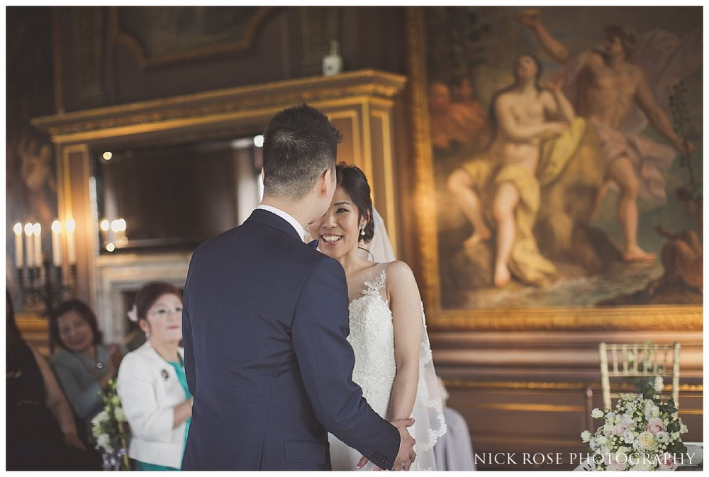Wedding ceremony at the Little Banqueting House at Hampton Court Palace