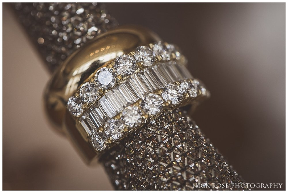 Wedding ring for a Meridian Grand North London Wedding