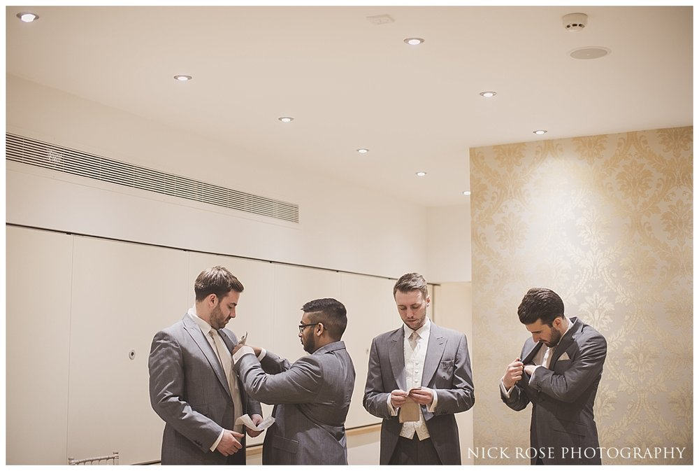 Wedding preparations at the Meridian Grand in North London