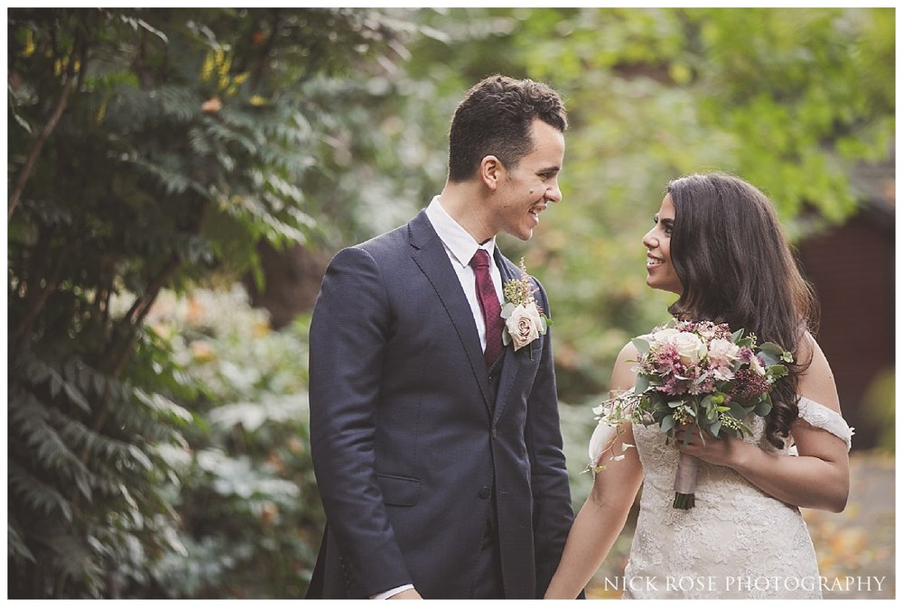 Mount Street Gardens wedding photography portrait taken during a Dartmouth House wedding in Mayfair by Nick Rose Photography