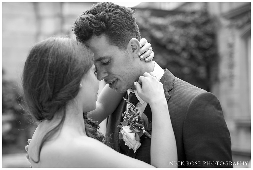 Wedding photography in the courtyard at Dartmouth House London