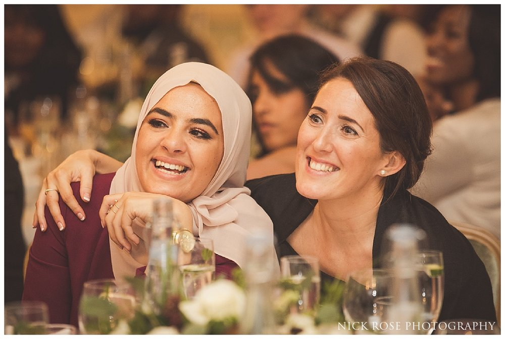 Wedding guests enjoying the speeches at Dartmouth House