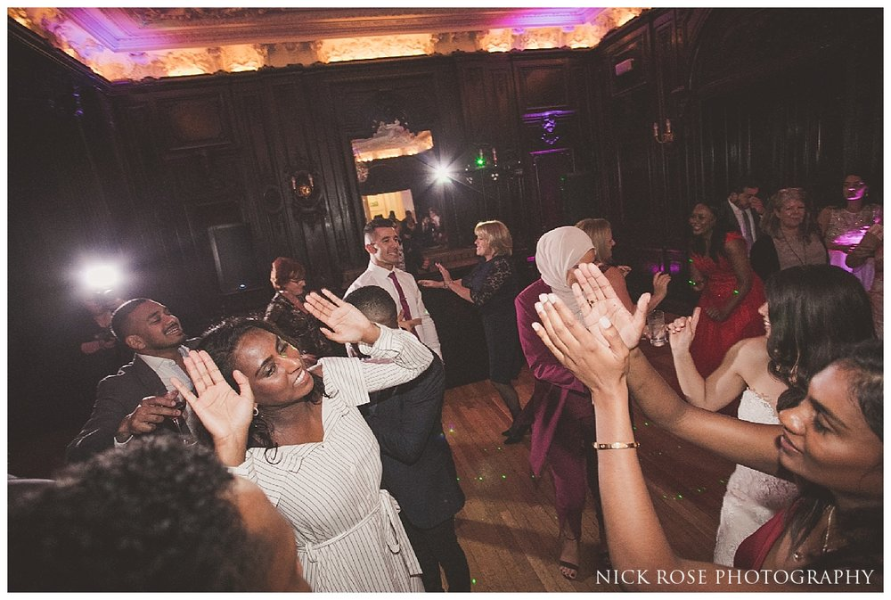 Wedding reception dancing at Dartmouth House in Mayfair