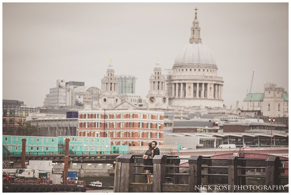 St Pauls cathedral pre wedding photography in London