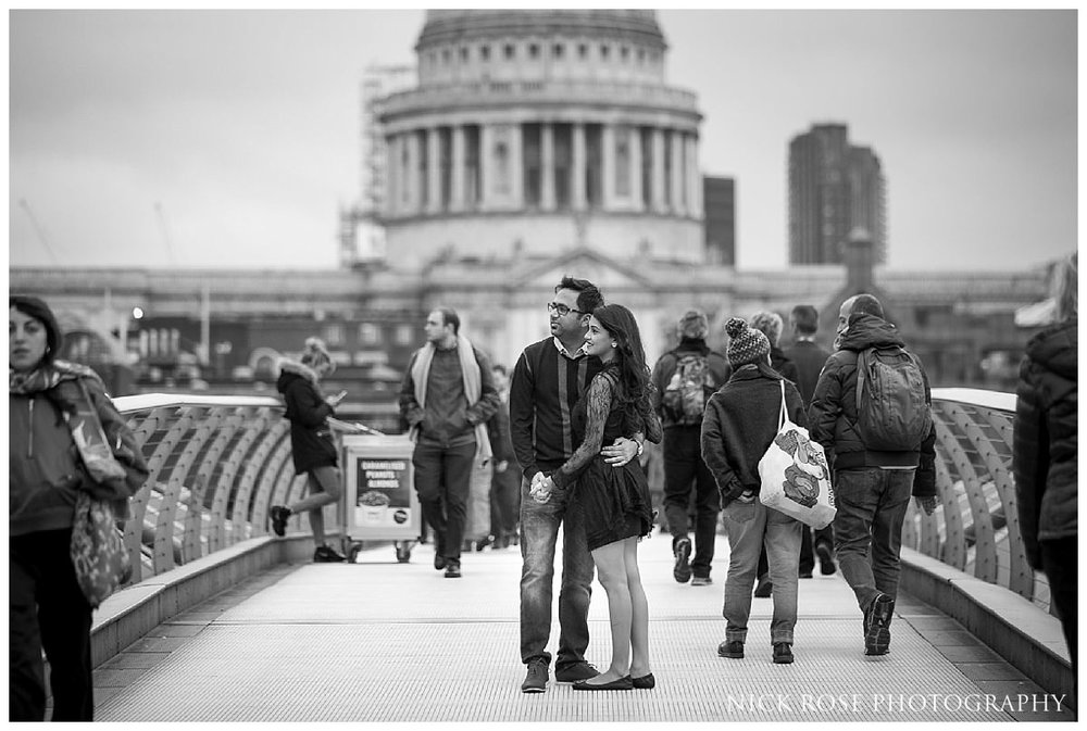 St Pauls pre wedding photography in London England