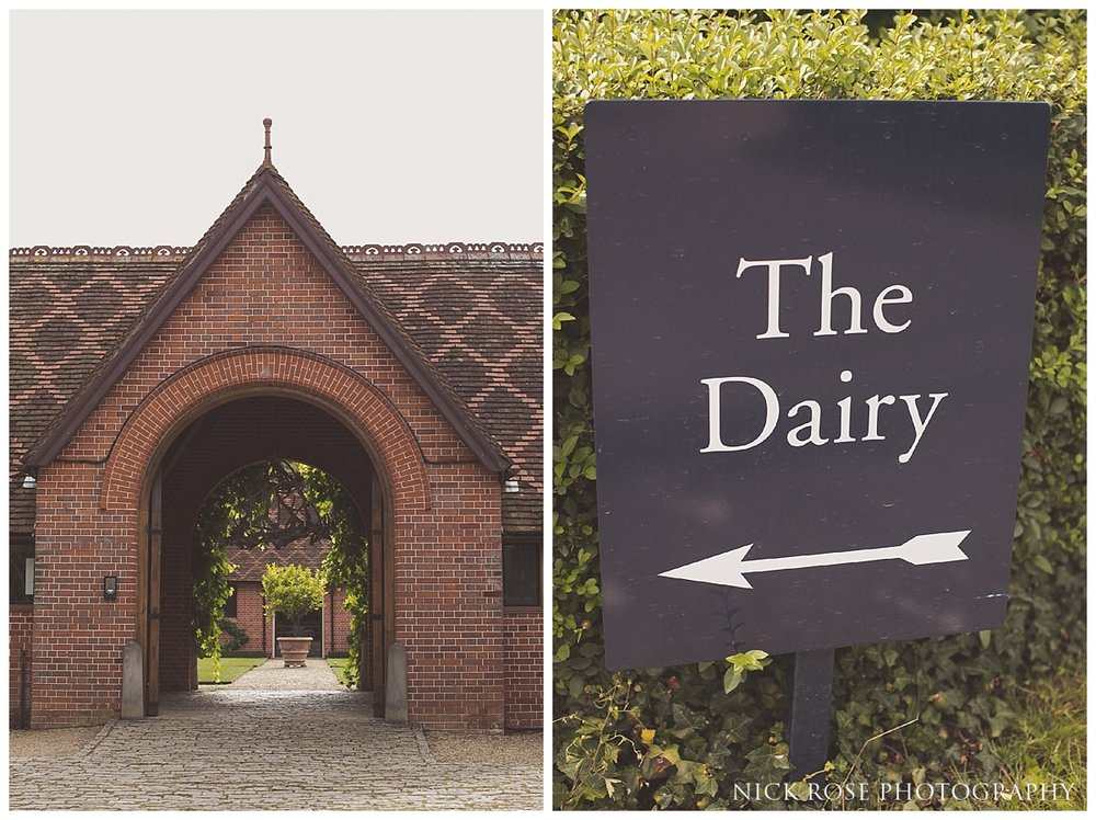 The Dairy wedding venue in Waddesdon Manor in Aylesbury Buckinghamshire