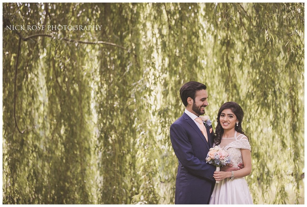 Bride and groom wedding photography portrait by Nick Rose Photography at the Dairy in Waddesdon Manor in Buckinghamshire