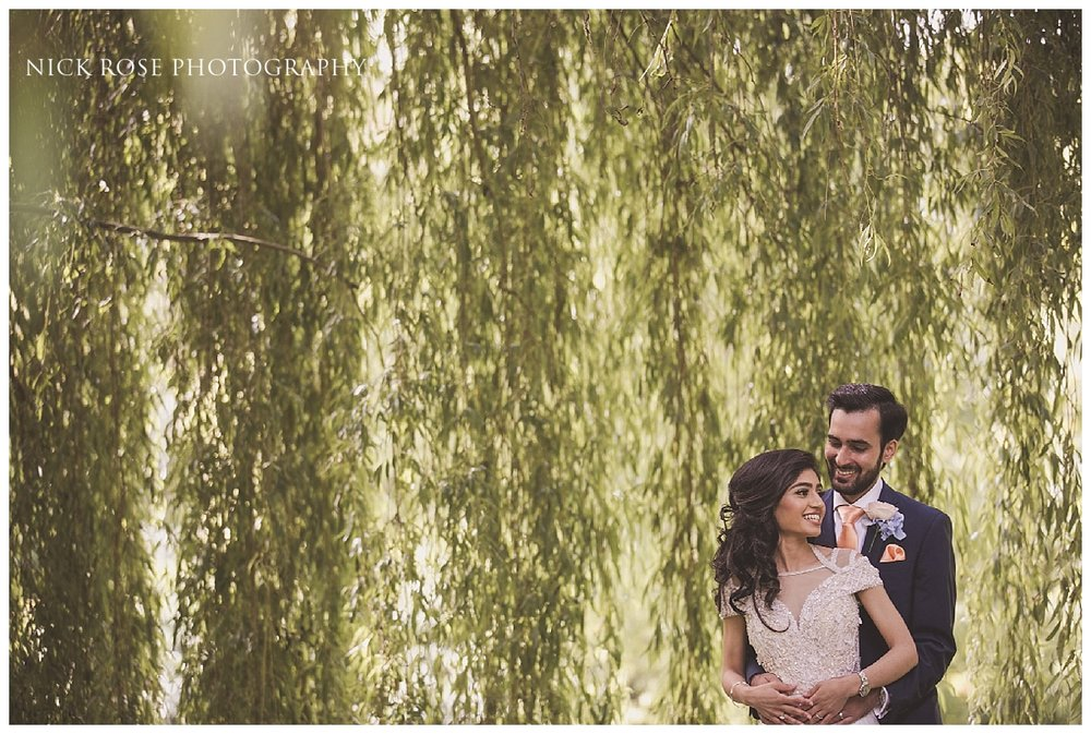 Garden wedding photography at the Dairy in Waddesdon Manor in Buckinghamshire