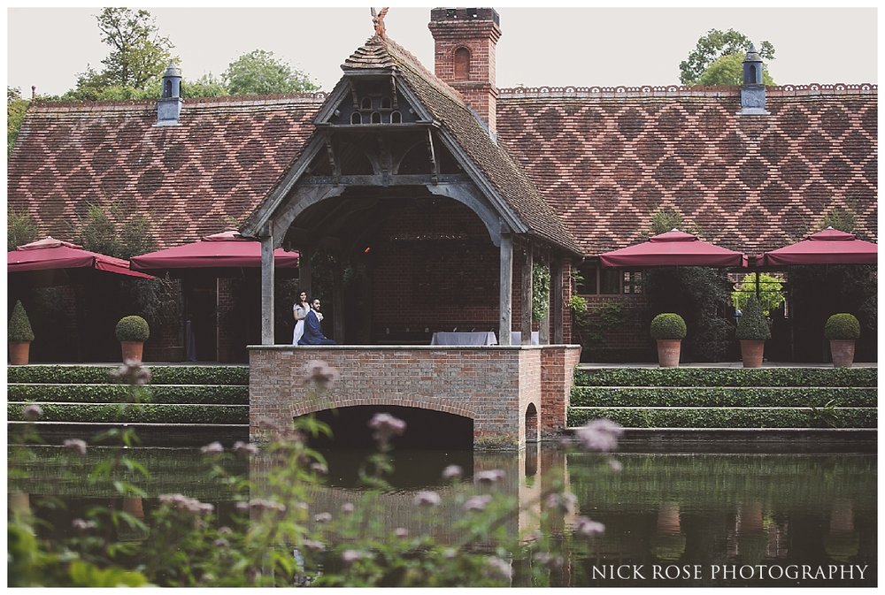 Waterfront wedding photography portrait at The Dairy in Aylesbury Buckinghamshire