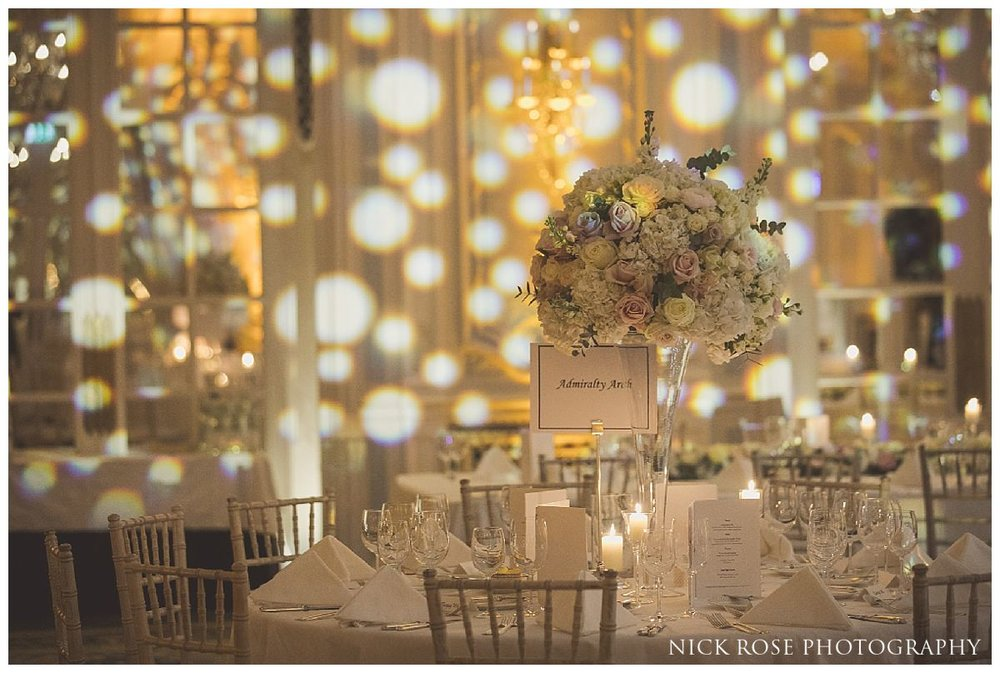 Lancaster Ballroom wedding florals at The Savoy London