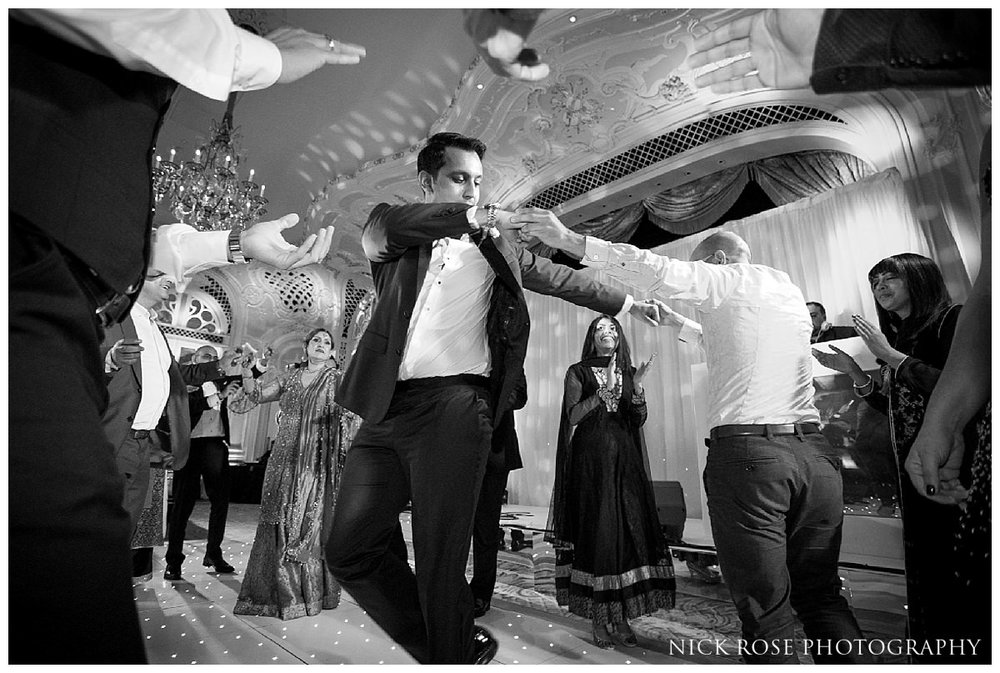 The Savoy reception dancing during a London wedding