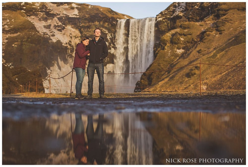 Destination pre wedding engagement photography in Iceland