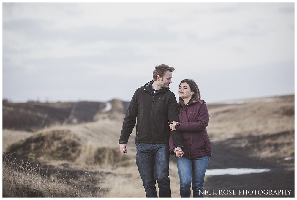 Iceland waterfall engagement photography shoot