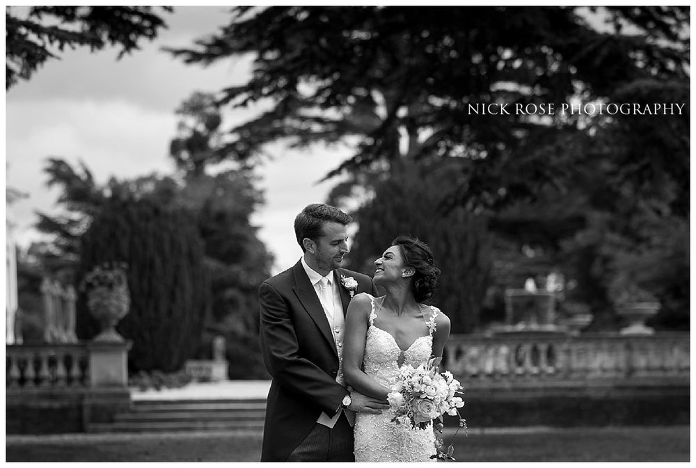 Bride and groom wedding photography portrait at Stoke Park Buckinghamshire