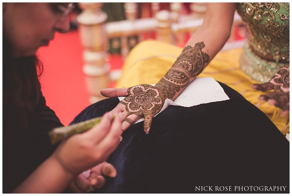 Indian wedding mehndi night in London